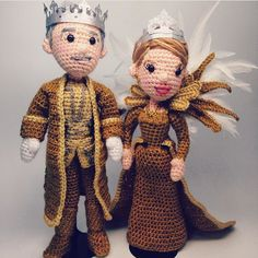 A little late but a repost of some #mardigras dolls I made last year! King and queen  #amigurumi #AmiguruME #crochet #craftyiscool #craftyiscoolcrochet
