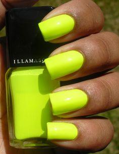 illamasqua rare. holy neon yellow