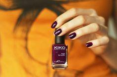 Kiko Rosso Prugna 243 nail polish swatch