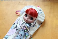 Excited to share the latest addition to my #etsy shop: MOOMIN Blythe Sleepsack from PINKKIS Protective Carrying Pouch Featuring Vintage Finnish Moomin Fabric #toys #dollcarryingcase #moomin #blythe #sleepsack #vintage #ecofriendly http://etsy.me/2FgXWBf