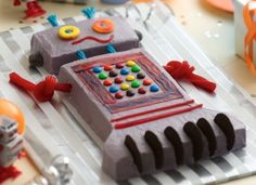 Robot Cake!  Camp Dad's summer 2012 theme is Robots and I will make this cake for the children.