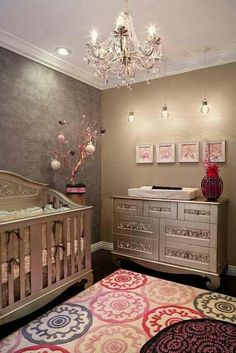 Don't know if I would ever do this but I think it's awesome!  Gunmetal & color pop nursery.