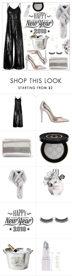 """Stepping Into 2018 Like....."" by queenvirgo ❤ liked on Polyvore featuring G.V.G.V., Christian Louboutin, Gucci, Unreal Fur, Viktor & Rolf, Cricut, Battington and Eichholtz"