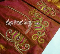 Wedding Saree Blouse Designs, Saree Wedding, Aari Work Blouse, Aari Embroidery, Designer Blouse Patterns, Kurti Neck Designs, Orange Blouse, Hand Designs, Girl Model