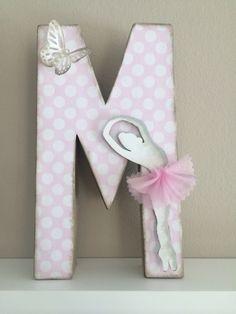 Letra decorada rosa