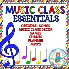 Kick off the new year with a set of songs, games and essential curriculum tools you can use for your Music Class. Innovative and Creative! Music Class Essential Curriculum with Songs,Chants,Games,