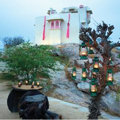 """""""Enjoy a traditional musical evening under the stars, around a bonfire along with a complimentary bottle of house wine and a live barbecue."""" - PlushEscapes #LakshmanSagar #NewYear2017"""