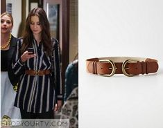 Pretty Little Liars: Season 6 Episode 5 Spencer's Double Buckle Belt Spencer Hastings Outfits, Spencer Pll, Pretty Little Liars Seasons, Pretty Little Liars Fashion, Pll Outfits, Fashion Clothes, Fashion Outfits, Episode 5, Belt Buckles