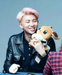 Leader BTS | Kim Namjoon | Rapmon with Eevee | Fluffy