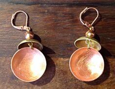 Copper and stainless steel earrings by ColorsOfEtnika on Etsy, $32.00
