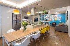 Trama Apartment by Semerene Arquitetura Interior 젊은 부부를 위한 도심 속 오아시스 브라질리아의...
