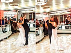 A little room lighting makes for a dramatic first dance... Queen Mary Wedding