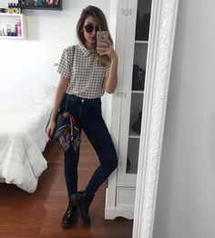 Korean Fashion Trends you can Steal – Designer Fashion Tips Basic Outfits, Retro Outfits, Trendy Outfits, Cute Outfits, Fashion Outfits, Womens Fashion, Trajes Business Casual, Business Casual Outfits, Korean Fashion Trends