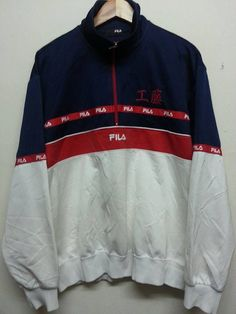 sale Vintage 1990s Fila Style Colour Block by SuzzaneVintage Ropa Hip Hop 9bd86775f22