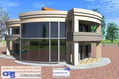 RDM5 House Plan No. W1473 Single Storey House Plans, Double Storey House, Beautiful House Plans, Beautiful Homes, Kerala House Design, Kerala Houses, Dome House, Natural Building, Round House