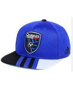 adidas Kids' San Jose Earthquakes Authentic Snap Cap - Blue Adjustable