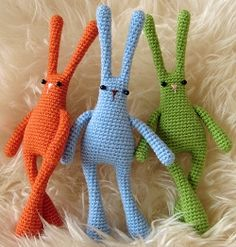 Free Amigurumi Patterns: Linguine Bunnybuns from Space