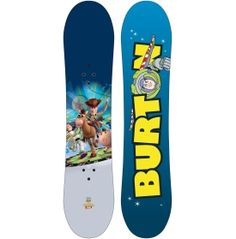 Beginning snowboarders will have a ball on the Burton® Boys' Chopper Toy Story Snowboard! Featuring favorite Disney/Pixar© characters, this board includes the Flat Top to provide a stable base for new boarders, extruded base for strength with low maintenance and a twin shape that allows awesome mobility. The Chopper Toy Story is an ideal starter board for youngsters that are ready to get out in the snow and build new skills.