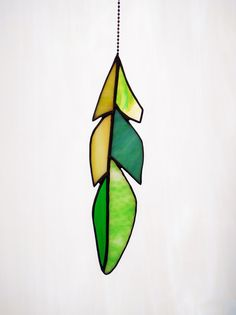 Item 213 Stained Glass Gull Feather in by SarahBrueckWilliams