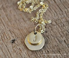 Gold Layered Initial Necklace - Hand Stamped & Personalized