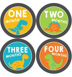 Dinosaur baby month stickers, set of 12 monthly baby stickers for boys Boy Printable, Printable Cards, Printables, Baby Milestone Chart, Baby Month Stickers, Baby Boy Scrapbook, Baby Dinosaurs, Reborn Toddler, Baby Milestones