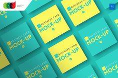Square - Business Card Mock-Up V1 by Cooledition on @creativemarket