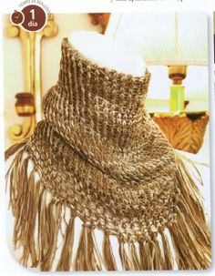♥LLK♥ Knitted infinity neck scarf, made on a big round loom