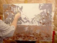 ▶ Maxim Grunin landscape painting in acrylics - YouTube