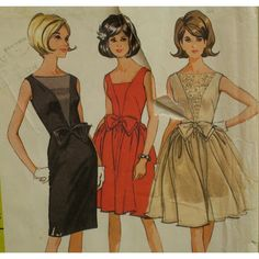 Vintage 1960s Evening Dress Pattern Prom Dress by VogueVixens, $25.00