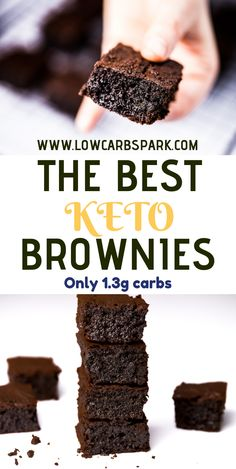 The most amazing, delicious, fudgy & easy to make keto brownies in the whole world. Enjoy a chocolatey that's insanely tasty! The most amazing, delicious, fudgy & easy to make keto brownies in the whole world. Enjoy a chocolatey that's insanely tasty! Desserts Keto, Keto Snacks, Easy Keto Dessert, Keto Cookies, Sugar Cookies, Brownies Cétoniques, Avocado Brownies, Chocolate Brownies, Almond Flour Brownies