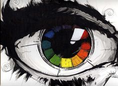 color wheel project.....add the color wheel to something and paint the rest…