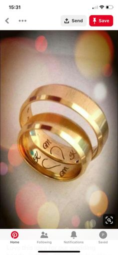 this idea for our wedding bands bands ♥ ️ . - Love this idea for our wedding bands bands ♥ ️ -Love this idea for our wedding bands bands ♥ ️ . - Love this idea for our wedding bands bands ♥ ️ - Personalized Rose Gold Ring With Silver Pol. Wedding Men, Our Wedding, Wedding Verses, Purple Wedding, Wedding Couples, Trendy Wedding, Wedding Blog, Thin Blue Line Ring, Gold Wedding Rings