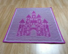 Ravelry: Fairy Castle Illusion Baby Blanket pattern by Steve Plummer Parma Violets, Purl Stitch, Knitting Charts, Little Princess, Illusions, Hanger, Outdoor Blanket, Castle, Fairy