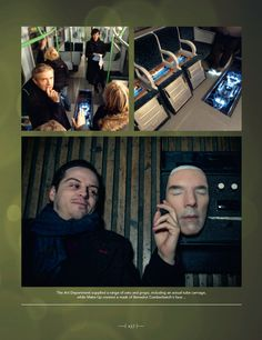 The Empty Hearse - behind the scenes photos from Sherlock: Chronicles --- Andrew what XD