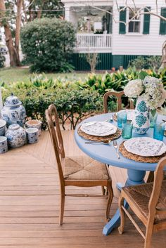 Gal Meets Glam Front Porch Blues with BEHR paint BEHR MARQUEE®
