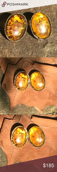Vintage Real Amber Earrings 🍂 🍁 Vintage Real Amber Earrings. Preloved in amazing condition! Perfect for any occasion! 🍂🍁 Vintage Jewelry Earrings
