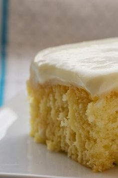 Lemon Poke Cake - This is is such a simple dessert to make and has a really light feel.  It would be a great Easter dessert or summer potluck option too