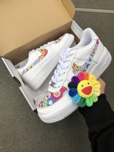 Murakami by TA Customs ® Sneakers Mode, Custom Sneakers, Custom Shoes, Sneakers Fashion, Fashion Shoes, Aesthetic Shoes, Aesthetic Clothes, Mode Outfits, Retro Outfits
