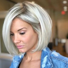 Had enough with platinum hair? And this icy blonde. Had enough with platinum hair? And this icy blonde. Modern Bob Hairstyles, Blonde Bob Hairstyles, Bob Hairstyles For Thick, Indian Hairstyles, Bridal Hairstyles, Lehenga Hairstyles, Black Women Hairstyles, Wedding Hairstyles For Long Hair, Formal Hairstyles