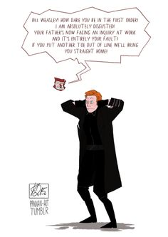 Everyone's Reaction To Bill Weasley As General Hux In 'Star Wars,' Summed Up In One Comic