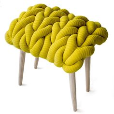 Fabulously Quirky Knitted Stool. Claire Anne Obrien