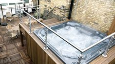 Sanctum Soho: Take a soak in the rooftop Hydro-Spa hot tub day or night; it's open 24 hours. Hydro Spa, Garden Bar, Garden Ideas, Jacuzzi Outdoor, Soho, Rooftop, United Kingdom, Outdoor Decor, Outdoor Ideas