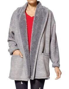 Hue Marley Fleece Robe Women's Grey Small/Medium