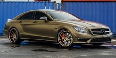 LG EXOTIC AUTO TRANSPORT Got one?  Ship it with http://LGMSports.com Matte Bond Gold Mercedes CLS63 AMG