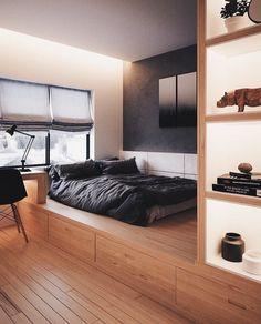 Slaapkamer goals bij & The post Slaapkamer goals bij & appeared first on BlinkBox. Small Bedroom Interior, Small Apartment Bedrooms, Small Bedroom Designs, Small Apartments, Home Interior, Modern Bedroom, Bedroom Decor, Modern Small Apartment Design, Cozy Bedroom
