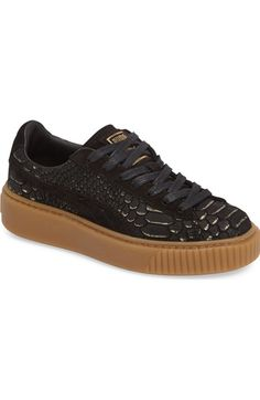 PUMA Exotic Skin Platform Sneaker (Women) available at #Nordstrom
