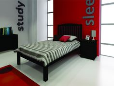 PHOENIX 152CM PINE BED - WALNUT *M* | House & Home