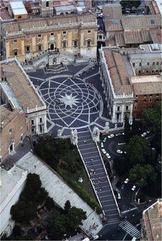 Piazza del Campidoglio by Michelangelo, Rome, Italy