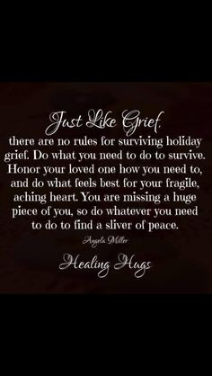 Just like grief, there are no rules for surviving holiday grief. Do what you need to do to survive. Missing Loved Ones, Missing My Son, Miss Mom, Miss You Dad, Grief Poems, In Loving Memory, Me Quotes, Qoutes, Verses