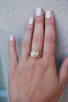 Rose gold engagement ring sapphire ring 6.26ct by EidelPrecious